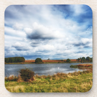 Clouds Over the Lake HDR Landscape Drink Coasters