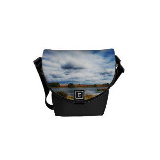 Clouds Over the Lake HDR Landscape Messenger Bag