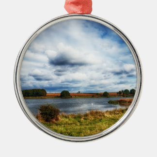 Clouds Over the Lake HDR Landscape Metal Ornament
