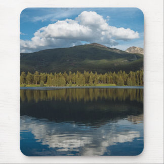 Clouds over the mountain mouse pad