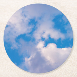 Clouds Paper Coaster