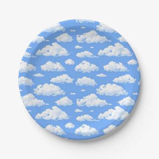 Clouds Paper Plate