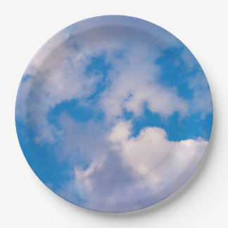Clouds Paper Plate 9 Inch Paper Plate