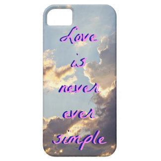 Clouds Phone Case- Love is never ever simple iPhone 5 Case