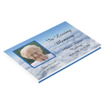Clouds Photo Memorial or Funeral Guest Book