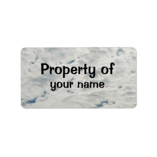"""Clouds """"Property of"""" Label"""
