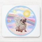 Clouds - Pug Angel (#2) Mouse Pad