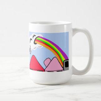 Clouds Puke Rainbows Mug