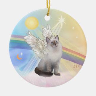 Clouds - Ragdoll Cat Angel Ceramic Ornament
