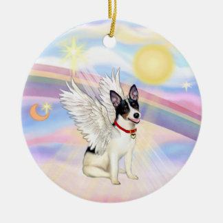 Clouds - Rat Terrier Angel Ceramic Ornament