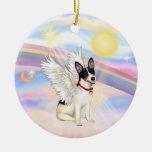 Clouds - Rat Terrier Angel Christmas Tree Ornament