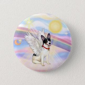 Clouds - Rat Terrier Angel Pinback Button