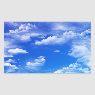 Clouds Rectangular Sticker