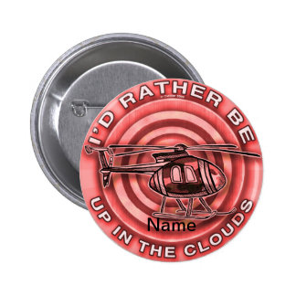 Clouds Red Helicopter Pin