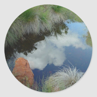 Clouds Reflected In Pool At Gooseberry Hill Sticker