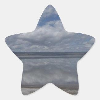 Clouds Reflection Star Sticker