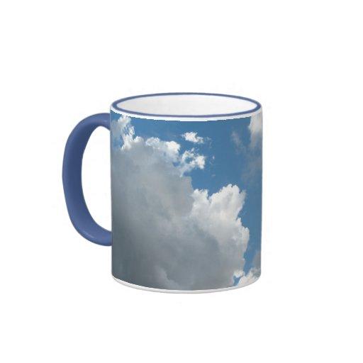 clouds ringer coffee mug