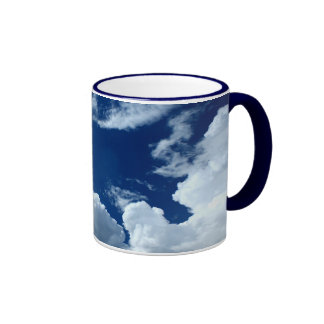 Clouds Ringer Mug