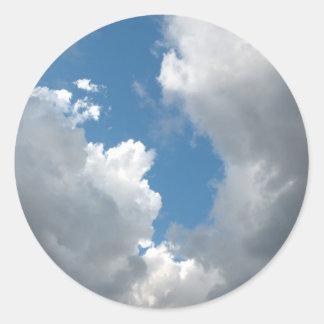 clouds round sticker