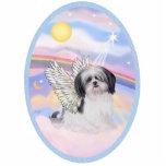 "Clouds - Shih Tzu Angel (A) Statuette<br><div class=""desc"">A Shih Tzu angel floats in heaven&#39;s clouds,  free to go home to Rainbow Bridge and be cared for by the angels and make new friends.</div>"