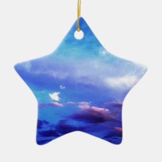 Clouds & Sky Ceramic Ornament