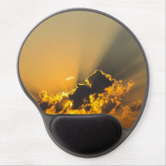 Clouds, Sky & Yellow Sunset Gel Mouse Pad