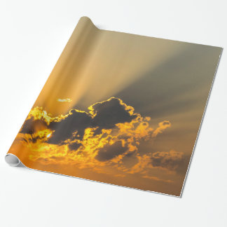 Clouds, Sky & Yellow Sunset Wrapping Paper