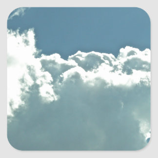 Clouds Square Sticker