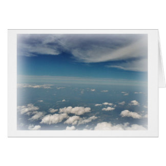 Clouds stamp greeting card