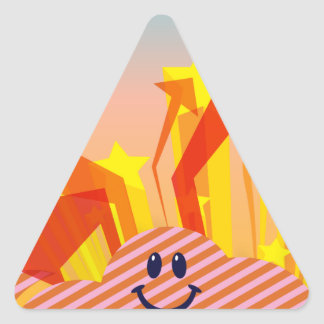 Clouds Stars and Arrows Triangle Sticker