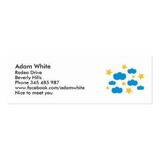 Clouds stars business cards