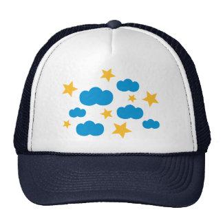 Clouds stars trucker hats