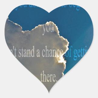clouds - Start Heart Sticker
