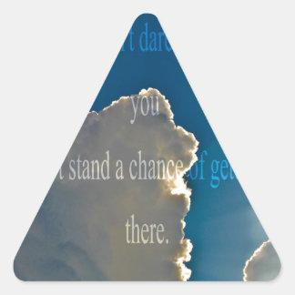 clouds - Start Triangle Sticker