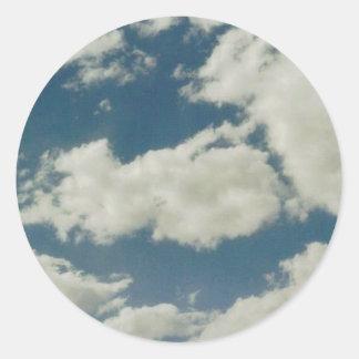 Clouds Classic Round Sticker