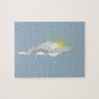 Clouds, Sun and Snowflakes Jigsaw Puzzle