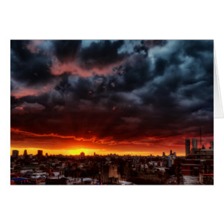 Clouds, Sunset And Red Card
