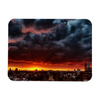 Clouds, Sunset And Red Magnet