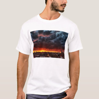 Clouds, Sunset And Red T-Shirt