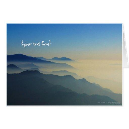 Clouds & Sunset in Taiwan Hehuan Mountain Card