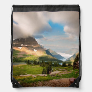 Clouds Sweeping Through Mountains Drawstring Backpack