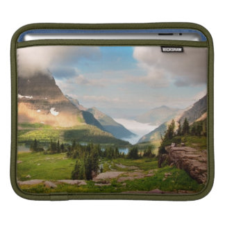 Clouds Sweeping Through Mountains iPad Sleeve