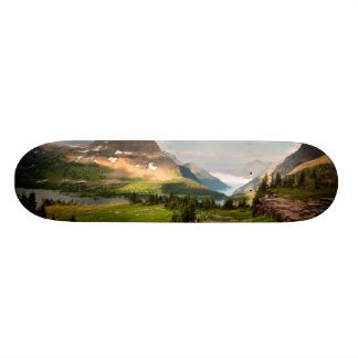 Clouds Sweeping Through Mountains Skateboard