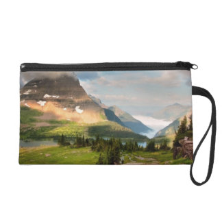 Clouds Sweeping Through Mountains Wristlet Clutch