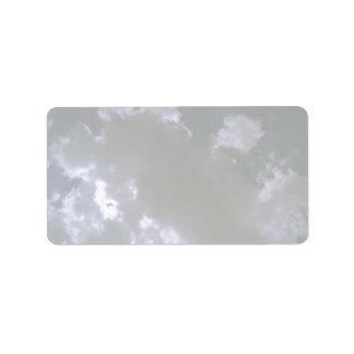 Clouds texture custom address labels