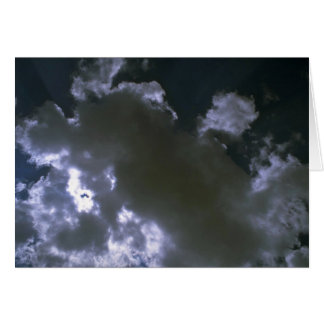 Clouds texture greeting card