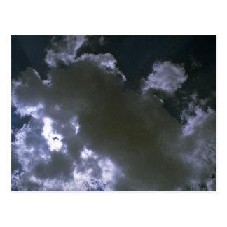 Clouds texture postcard