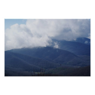 Clouds Touching Mountains Poster