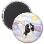Clouds - Tri Color Cavalier King Charles Angel 2 Inch Round Magnet