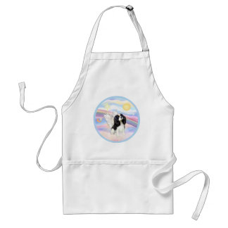 Clouds - Tri Color Cavalier King Charles Angel Adult Apron